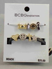 BCBG Generation BEACH Make Your Own #MYO Black Mini 8 Charm Bracelet Set