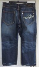 Ed Hardy Size 42x32 Blue Jeans Men's Cotton Love Kills Slowly Skull