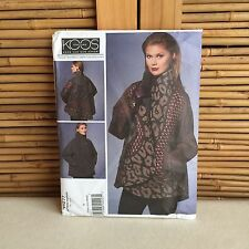 VOGUE Koos VAN Den AKKER Reversible JACKET #1277 SEWING Pattern SIZE XS-SML-MED