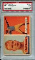 1957 Topps Football #151 Paul Hornung Rookie Card RC Graded PSA VG 3 Packers HOF