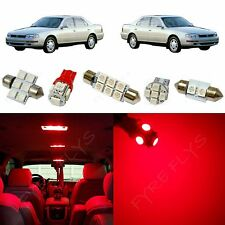 7x Red LED lights interior package kit for 1992-1996 Toyota Camry TC7R