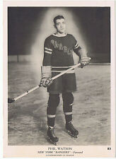 1939-40 O-Pee-Chee V301-1 Phil Watson New York Rangers (5 x 7 card) Near Mint