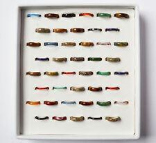 Sammlung Lot Konvolut 44 Edelsteinringe Ringe Edelsteine Achat Karneol Onyx