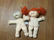 Lot Of 2 Vintage Cabbage Patch Kids Dolls Soft Bodies Red Head & Bald As Is