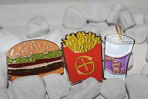 Geocoin FAST FOOD SET Burger Pommes Cola Geocaching 3 Coins trackbar unaktiviert