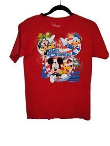 Disney Florida Sz Lrg 10-12 Red Mickey & Friends Graphic T Shirt Kids