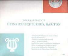 Opernabend mit Heinrich Schlusnus, Bariton - Atlas Record  / DSG 5817 - LP