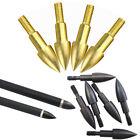 12pcs Bullet Field Point 60-100Gr Screw-in Hunting Broadheads Archery Arrow Head