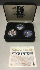 Derek Jeter Rookie All-star Quarters 3-coin Colorized Set Yankees Merrick Mint