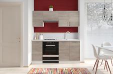 Cucina componibile da 180 cm con base e pensili sospesi in laminato cucinino