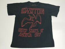 Led Zepplin United States of America 1977 Black and Red T-Shirt Size Large Retro