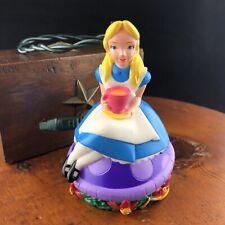 Vtg 90s Disney Alice Wonderland Christmas Light Plug In Extension Having Tea