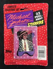 Vintage Michael Jackson 33 Peel Away Stickers 1984 Topps NOS Box Collectors' Set