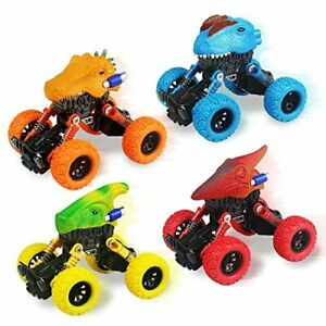Dinosaur Toys for Kids 3-5 4 Pack Pull Back Cars for 3 4 5 6 7 Year Old Boys ...