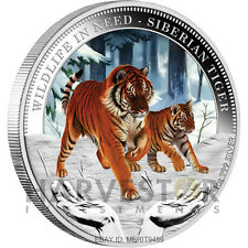 2012 WILDLIFE IN NEED SERIES – SIBERIAN TIGER - COIN #5 - 1 OZ SILVER - SOLD OUT