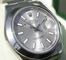 Rolex Datejust II 116300 Stainless Steel Silver Index Dial 41mm Domed Bezel