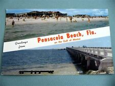 Greetings from PENSACOLA BEACH FLORIDA FL Vintage Postcard