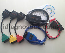 DIAGNOSTIC CABLE ALFA FIAT ELM + KKL VAG OBD2 + 3-PIN + 3x ADAPTER MULTIECUSCAN
