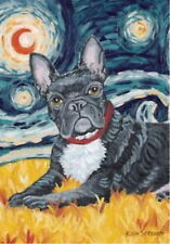 New Large Toland Paw Palettes Art Flag Van Growl French Bulldog 28 X 40 Unique!