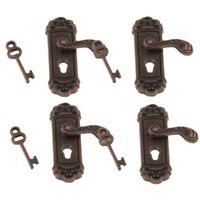 10X(4Pcs Doll House Door Lock 1:12 Alloy Retro House Miniature Door Lock Do5L2)