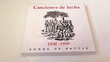 """CDBOX """"CANCIONES DE LUCHA 1936-1939"""" 28 TRACKS SALVADOR MORODER ANA VEGA"""