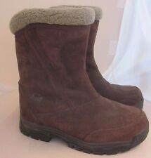 Sorel Winter Waterproof Ankle Boots Brown Suede Leather Women's Size 7 VGUC