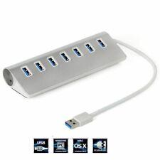 USB 3.0 Hub High-Speed 7 Ports Aluminium For Apple MacBook Pro Mac PC Laptop new