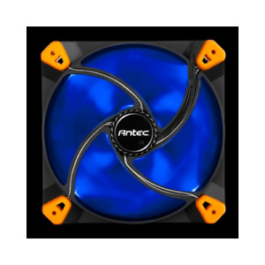 Antec True Quiet 120mm x 25mm BLUE LED Case Fan Built In Silicon Toolless Mount
