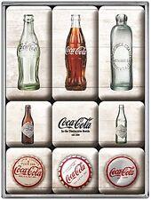 Coco Cola Bottles set of 9 mini fridge magnets   (na)