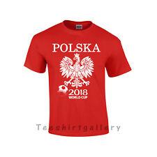 T-SHIRT POLSKA POLAND- WORLD CUP 2018 RUSSIA FOOTBALL SUPPORTERS UNISEX KIDS TOP