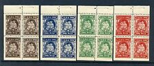 1943 I.S.S.U. 'ONE PICE' CHARITY SOUVENIR BOOKLET POSTER STAMPS IN 4 COLORS L290