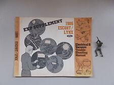1986 Ford Lynx Escort Electrical & Vacuum Troubleshooting Manual