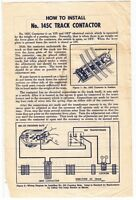 [56960] 1950 LIONEL AUTOMATIC ACCESSORIES WITH No. 145C CONTACTOR INSTRUCTIONS