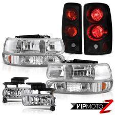 00 01 02 03 04 05 06 Tahoe LT Headlamp Signal Taillights Black Crystal Clear Fog