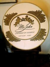 Vtg Hat Box Mr. John Emperor of Fashion New York Paris Cherubs Black Gold White