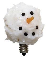 Snowman Head Light Bulb - 3 Watt Silicone Dipped - Vickie Jean's - Winter