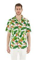 Hawaii Hangover Men's Hawaiian Shirt Aloha Shirt Bird Of Paradise White