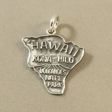 .925 Sterling Silver VOLCANOS Nat'll Park CHARM Hawaii Big Island NEW 925 NP30