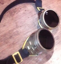 steampunk goggles Vintage cyber goggles burning man Metal Sunglasses rare ussr