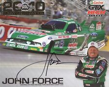 JOHN FORCE autographed 8x10 color photo      LEGENDARY NHRA RACING CHAMPION