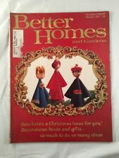 Better Homes and Gardens December 1963 Vintage Old Retro Cooking Xmas Magazine