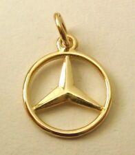 GENUINE 9K 9ct SOLID GOLD MERCEDES BENZ SIGN LOGO CAR Charm/Pendant