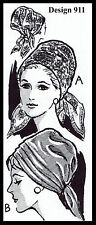 Cover Up Turban Style Hat Chemo Cancer Vintage Design 911 Fabric Sewing Pattern
