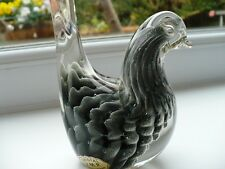 Rare  Murano Barbini Grey Sfumato Crystal Glass Dove - V.M.P.