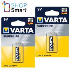 2 VARTA Superlife Zinc-Carbono Potencia 9V Batería E-Block 2022 6F22 Nuevo