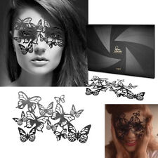 Butterfly Reusable Black Vinyl Sticker Eye Mask Costume Cosplay Masquerade Dance