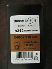 Power One P312 Hearing Aid Batteries Fresh Box Of 60 Exp Date 2024/04 Free Ship