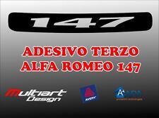 ADESIVO STICKERS PER TERZO STOP ALFA ROMEO 147 , ALFA 147 Q2