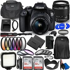 Canon EOS 2000D (Rebel T7) DSLR Camera with EF-S 18-55mm f/3.5-5.6 DC III Lens -