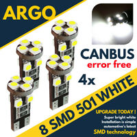4x ERROR FREE CANBUS 501 8 SMD LED SIDE INDICATOR BULBS WHITE XENON T10 W5W 194